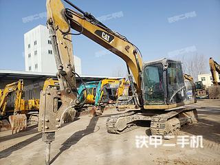 河南-郑州市二手卡特彼勒313D挖掘机实拍照片