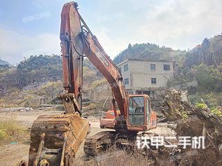 贵州-六盘水市二手斗山DH220LC-V挖掘机实拍照片