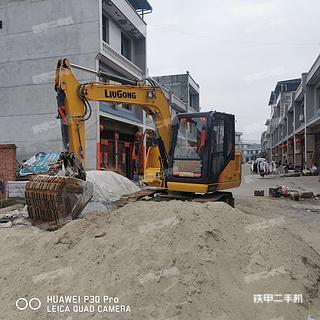 陕西-安康市二手柳工CLG9075E挖掘机实拍照片