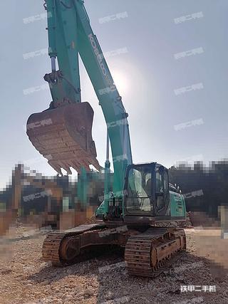 云南-昆明市二手神钢SK350LC-10挖掘机实拍照片