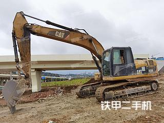 柳州卡特彼勒323D液压挖掘机实拍图片