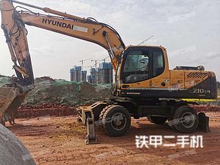 现代R210W-9挖掘机实拍图片