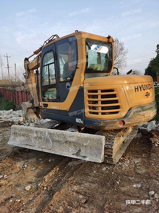 陕西-汉中市二手现代R80G挖掘机实拍照片