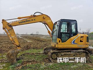 龍工LG6075挖掘機實拍圖片
