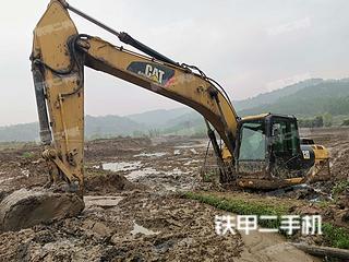 湖南-永州市二手卡特彼勒320D2液压挖掘机实拍照片