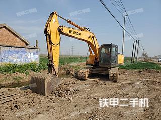 江苏-连云港市二手现代R225LC-7挖掘机实拍照片