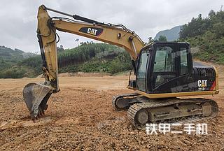 广西-柳州市二手卡特彼勒313D2GC小型液压挖掘机实拍照片