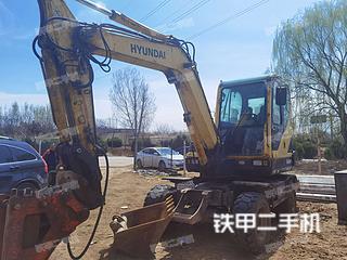 秦皇島現代R60W-9挖掘機實拍圖片