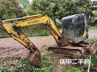 四川-广安市二手现代R55-7挖掘机实拍照片