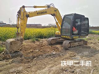 陕西-咸阳市二手现代R80-7挖掘机实拍照片
