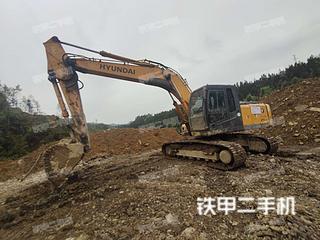 湖南-湘西土家族苗族自治州二手现代R215-7C挖掘机实拍照片