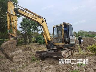江苏-常州市二手现代R55-7挖掘机实拍照片