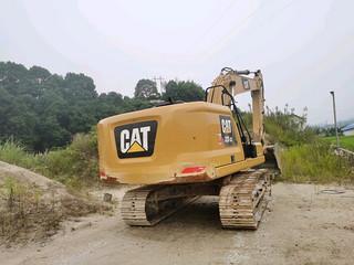 二手卡特彼勒挖掘机发动机整体俯视实拍图373