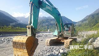 四川-德阳市二手神钢SK350LC-8挖掘机实拍照片