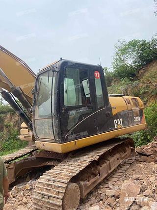 浙江-金华市二手卡特彼勒320D液压挖掘机实拍照片
