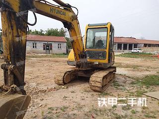 日照現代R55-7挖掘機實拍圖片