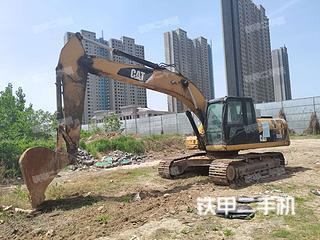 郑州卡特彼勒323D液压挖掘机实拍图片