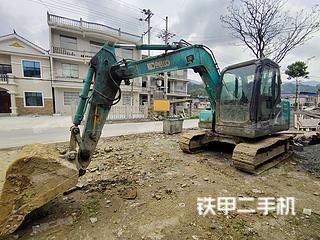 湖南-湘西土家族苗族自治州二手神钢SK75-8挖掘机实拍照片