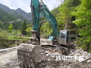 湖北-恩施市二手神钢SK250-8挖掘机实拍照片
