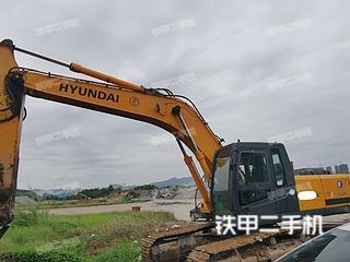 現代R305LC-7挖掘機實拍圖片