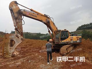现代R485LC-9T挖掘机实拍图片