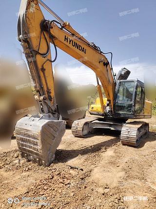 蘭州現代R225LC-7挖掘機實拍圖片