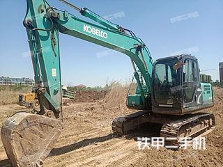 山东-滨州市二手神钢SK130-8挖掘机实拍照片