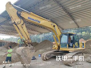 龍巖小松PC220LC-7超長前臂挖掘機實拍圖片