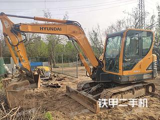郑州现代R60-9挖掘机实拍图片