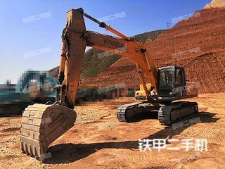 蘭州現代R305LC-7挖掘機實拍圖片