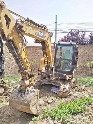 陕西-咸阳市二手三一重工SY55C挖掘机实拍照片