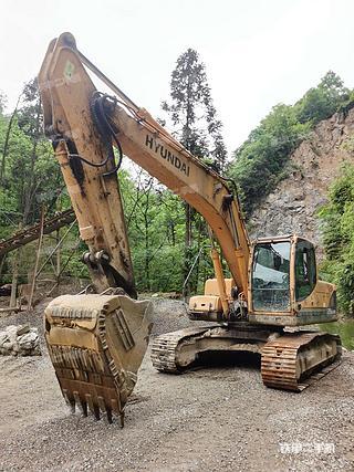现代R225LC-9T挖掘机实拍图片