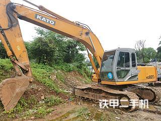 湖北-武汉市二手加藤HD820R挖掘机实拍照片