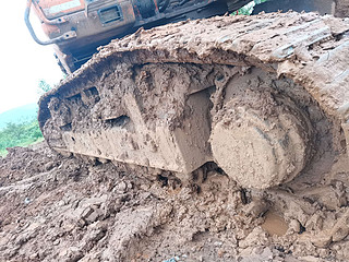 二手斗山挖掘机单侧履带整体实拍图369