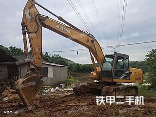 湖南-长沙市二手加藤HD820V挖掘机实拍照片