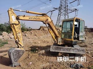安阳现代R55-7挖掘机实拍图片