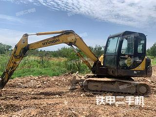 浙江-衢州市二手现代R60-7挖掘机实拍照片