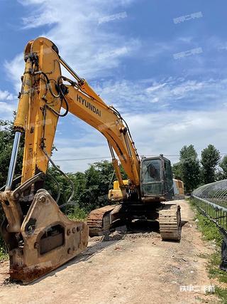 浙江-金华市二手现代R455LC-7挖掘机实拍照片