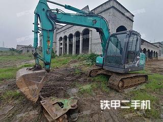 四川-南充市二手神钢SK75-8挖掘机实拍照片