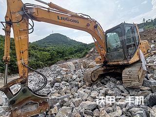 柳工CLG915C挖掘機實拍圖片