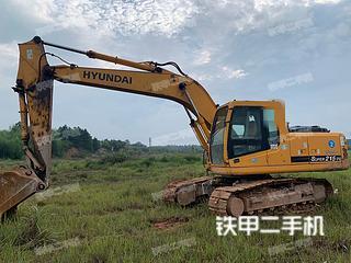 貴陽現代R215-7C挖掘機實拍圖片