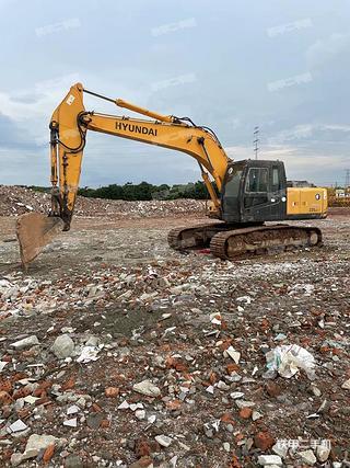 貴陽現代R225LC-7挖掘機實拍圖片