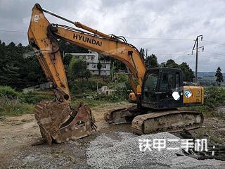 贵州-黔东南苗族侗族自治州二手现代R225LC-7挖掘机实拍照片