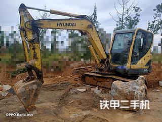 河南-郑州市二手现代R60-9挖掘机实拍照片
