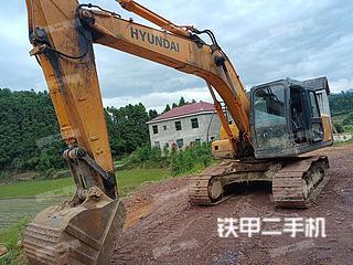 撫州現代R215-7C挖掘機實拍圖片