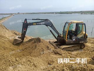 山东-烟台市二手沃尔沃EC55B-Pro挖掘机实拍照片