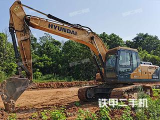 現代R215VS挖掘機實拍圖片
