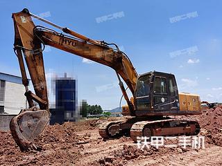 現代R215-7挖掘機實拍圖片