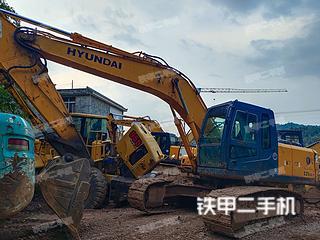 四川-雅安市二手现代R225LC-7挖掘机实拍照片