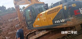 現代R215LVS挖掘機實拍圖片